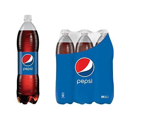 Pepsi Cola, Das Original von Pepsi, Koffeinhaltige Cola in der Flasche (6 x 1,5l)
