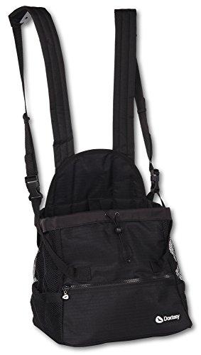 Doxtasy Bauchtragetasche für Hunde bis 9kg, Schwarz, Größe M (Medium Pet Carrier)