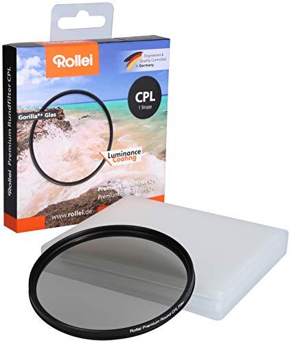 Rollei Premium Rundfilter CPL 55 mm (1 Stopp) - Polarisationsfilter (Polfilter) mit Aluminium-Ring aus Gorilla Glas mit spezieller Beschichtung - Größe: 55 mm