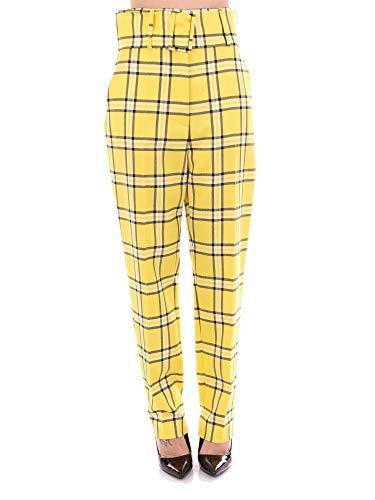 Pantalón de cuadros amarillo