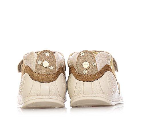 BIOMECANICS beige Étoilée-chaussure en cuir naturel en particulier pour le premier et le pas gattonamento Bébé Fille-Fille Beige - beige