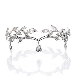 Pixnor Strass Crystal Bridal Tiara Hair Pin Hochzeitsparty
