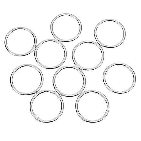 Gazechimp 10Pcs O bague Ronde Accessoire de Sac Ceinture Bagage Brillant Contre Rouiller en Alliage de Zinc Robuste - argent, 2.5CM O-Ring