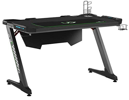 Ultradesk Space - Bureau de Jeu avec LED, Gaming Desk