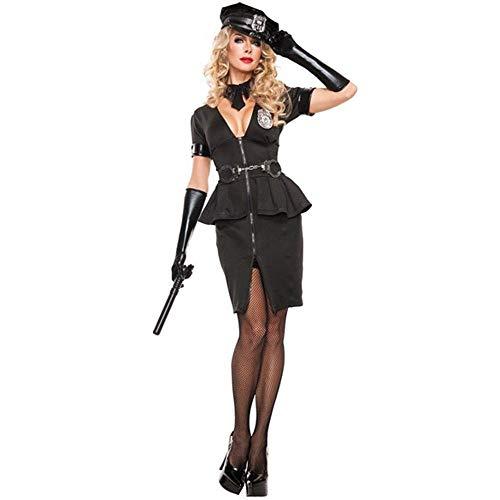 FrebAfOS Halloween-Party-Partei-Kostüme, Sexy Bursting Polizeiuniformen, Nachtclub Bühne Cos Kleidung, M, X-Large