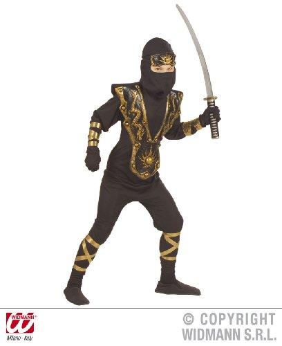 kostüm schwarz-gold 158 (Golden Dragon Ninja Kostüm)
