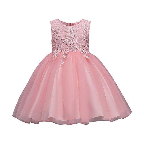 YEARNLY Prinzessin Aermellos Blumenmaedchenkleid Bodenlang Brautjungfer Kleid Baby ()