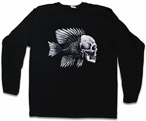 Fish Skull Langarm Long Sleeve T-Shirt - Größen S - 2XL (Shirts Redneck Hunting)