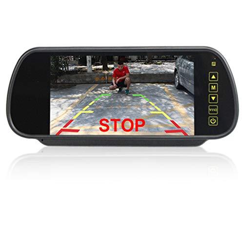 DOGZI 1080P Full HD DVR Autokamera Parkmonitor, Loop-Aufnahme, Bewegungserkennung - 7in LCD Mirror Monitor + Wireless Rückfahrkamera Rückfahrkamera Nachtsicht