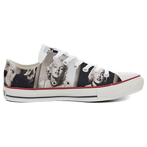 Converse Customized Chaussures Coutume (produit artisanal) Slim Marilyn Monroe