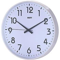 Unity Fradley Horloge Murale silencieuse Blanc 30 cm