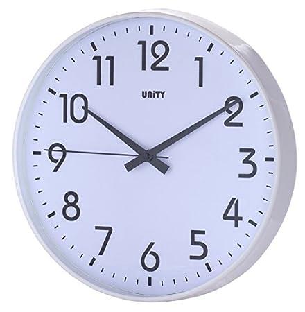 nice looking modern wall clocks amazon. Unity Fradley 30 cm 12 inch Silent Sweep Modern Wall Clock  White Amazon co uk Kitchen Home