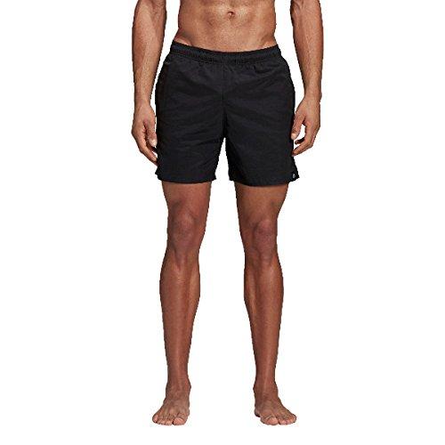 adidas Herren Solid Short Length Badeshorts, Black, M