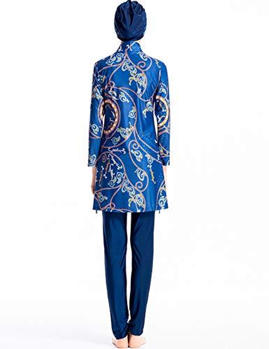 besbomig Modesty Muslimische Badeanzug für Frauen - Islamischer Burkini Full Cover Bademode Muslim Badebekleidung Damen Swimwear Schwimmanzug mit Hijab - 5