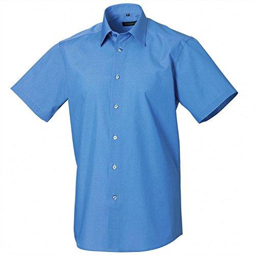 Russell Sammlung Short Sleeve Polycotton Easycare Tailored Popeline-Hemd Nero