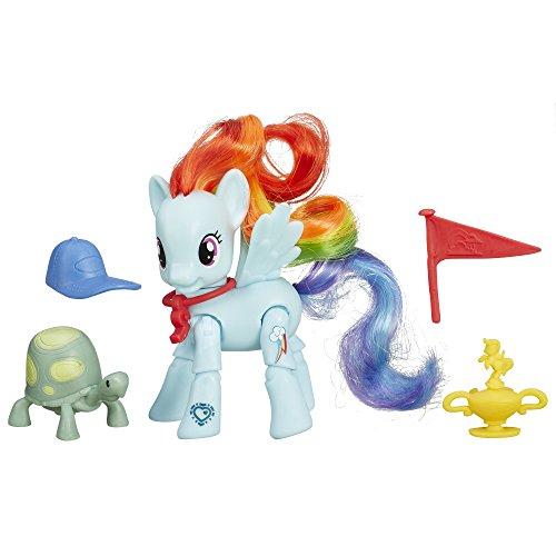Hasbro B5676 - My Little Pony - Bewegliches Pony mit Zubehör - Rainbow Dash [UK Import]