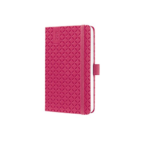 Sigel J9104 Weekly Diary Jolie 2019, Format Approx. A6, Pink