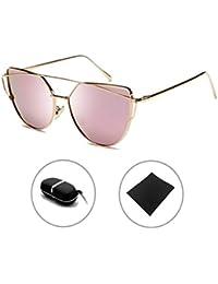 Gafas de sol Mujer Gafas de gato Espejo La Vendimia Hombres Sunglasses HUANXIN