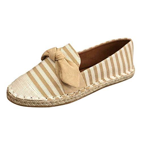 Damen Halbschuhe Espadrille Sandalen Flache Sommer Sandaletten Plateau Strand Hausschuhe Pantoletten Bequeme Elegante Schuhe Sommersandalen Hausschuhe (EU:39.5, Gelb)
