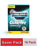 Gillette Mach 3 Shaving Blades - Pack of 16 (Cartridges)