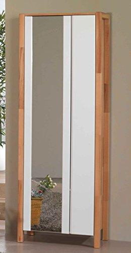 Möbel Roslev A / S Dielenschrank teilmassiv Kernbuche Spiegel Kleiderstange ausziehbar modern MDF...