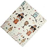 Egab Baby Folding Play Foam Playmat Crawl Mat Waterproof Portable Kids Toddler Outdoor or Indoor Use Non Toxic (Cream, 6…