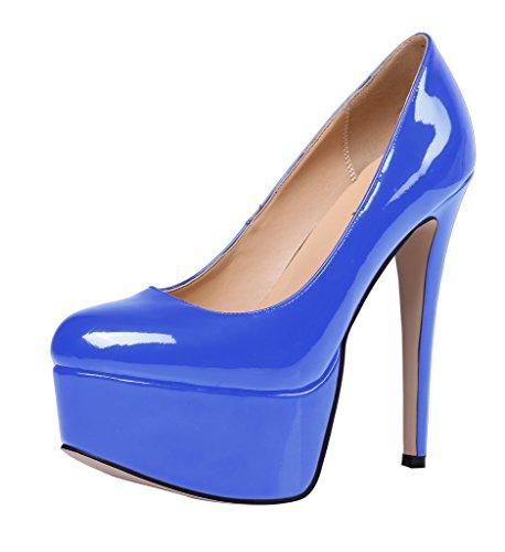 Guoar - Scarpe chiuse Donna Blu (blu)