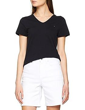Tommy Hilfiger Jeana V-Nk Tee SS, Camiseta Sin Mangas Para Mujer