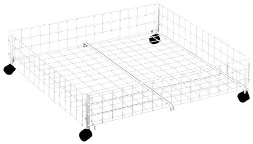 Whitmor 6023–304-sw Rolling Unterbett Warenkorb, weiß (Whitmor Korb)