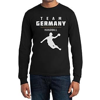 Team Germany Handball Fan Shirt Olympische Spiele Langarm T-Shirt