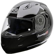 NZI 010193G047M Premium S Duo Casco de Moto, Negro, Talla M