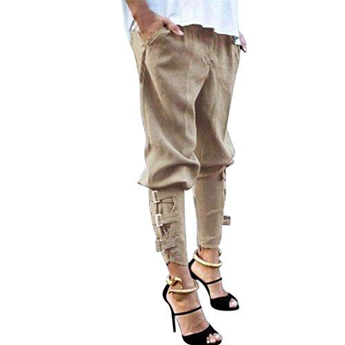 OSYARD Damen Lässige Harem Baggy Hip Hop Dance Jogging Trainingshose Hosen Hosen(L,Khaki) (2 Hose Dance)