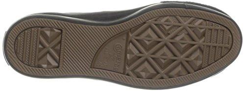 Converse, A / S Salut Plate-forme En Cuir / Terry Sneaker, Noir Donna Monochrome