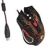 MagiDeal 3200dpi Ratón de Juego Con Cable Led 6 Botones Para Ordenadores Pc Portátil Accesorios