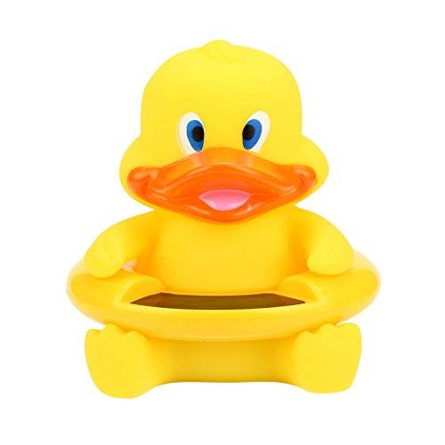 Baby Badethermometer Wasserthermometer Badespielzeug, Gusspower niedlichen Tier Säugling Bademantel Thermometer Wasser Temperatur Tester Spielzeug für Baden Sicherheit (Gelbe Entlein)