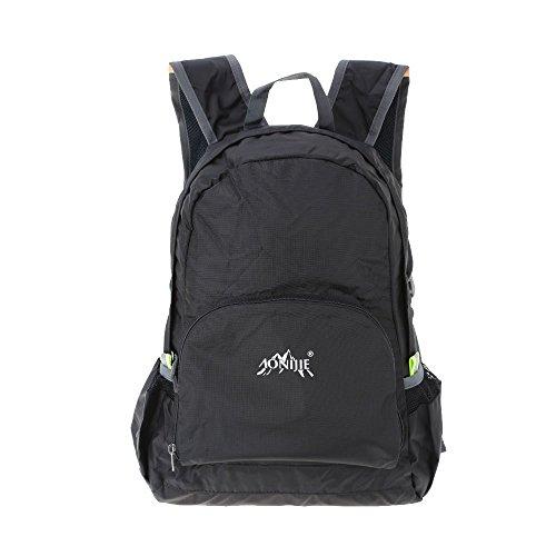 MCTECH 25L Zaino Trekking Usa come borsa da viaggio per Sportivo Outdoor per campeggio alpinismo arrampicata Viaggio Bicicletta (Blu) nero (black )