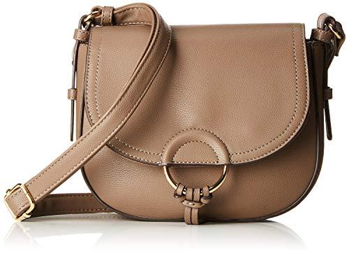 TOM TAILOR Umhängetasche Damen Gesa, Beige (Taupe), 7.5x19.5x23 cm, Damen Handtasche