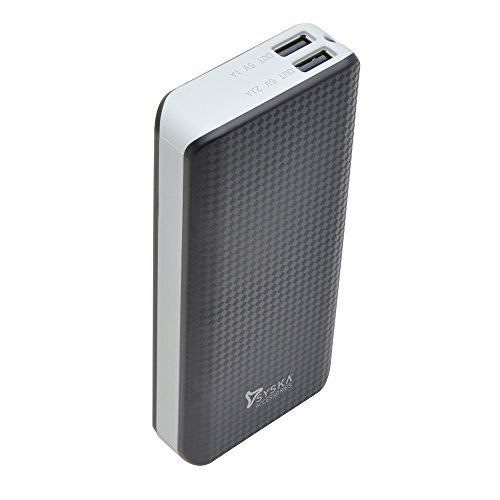 Syska 10000 MAh Power Bank (Black-Grey, Power Shell 100)