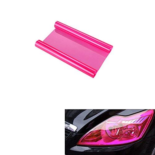 einwerfer Folie Tönungsfolie Aufkleber für Auto Scheinwerfer Rückleuchten Blinker Nebelscheinwerfer(Rosa) (Rosa Folie)
