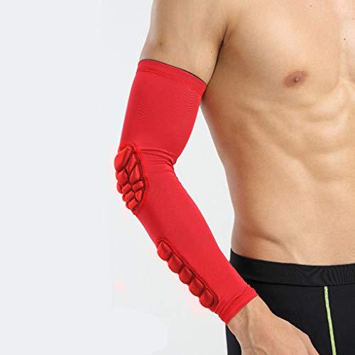 Atmungsaktiv/Schweiß Absorbent Schutz für Ellenbogen - Ellbogenschützer Elbow Support Arm Sleeve Kompression Armstulpe
