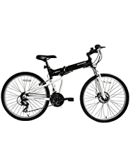 "ECOSMO 26""Wheels New Aluminium Folding MTB Bicycle Bike SHIMANO- 26AF18BL"