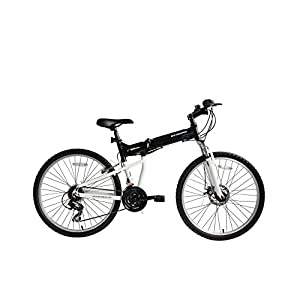 """41MerMPXKAL. SS300 Ecosmo, mountain bike pieghevole in alluminio, ruote da 26"""", cambio Shimano 26AF18BL"""