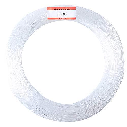 Faseroptik-stränge (CHINLY 1.5mm 100M / Rolle PMMA Plastikendglühen-Lichtwellenleiterkabel für Sternhimmeldecke alle Art führte hellen Maschinenfahrer)