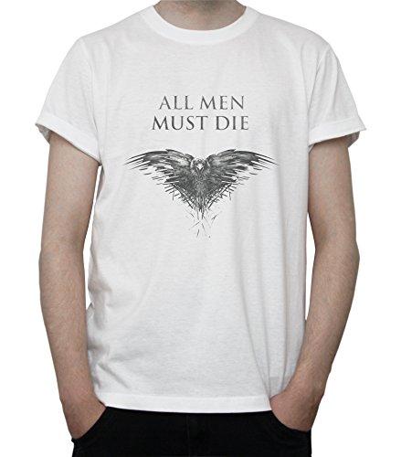 All Men Must Die EAGLE - Game Of Thrones Mens T-Shirt Blanc