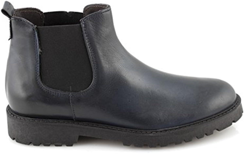 damalu Stiefeletten Herren Leder Schwarz Beatles Schuhe Herren Stiefel Chelsea Mode Made Italy