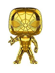 Funko- Pop Bobble Marvel Studios 10: Iron Spider (Chrome) Figura Coleccionable, Multicolor (38482)