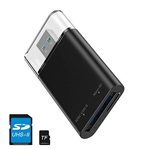 baozun UHS-II SD Kartenleser USB 3.0 Speicherkartenleser Kartenadapter für MicroSD, SD 4.0/ SDXC/SDHC/UHS-I/UHS-II Karten