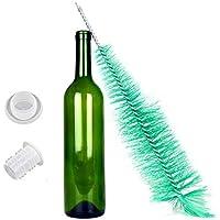 Brosse bouteille, brosse de nettoyage longue vert pour la bouteille, longueur du 16 pouces, avec manche longue en fer (A)