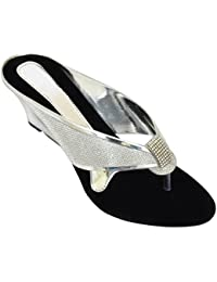 Altek Stylish Funky Silver Wedges For Women (foot_1362_silver_p225)