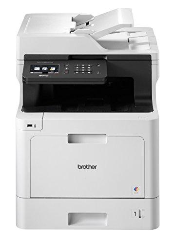 Brother MFC-L8690CDW Professionelles 4-in-1 Farblaser-Multifunktionsgerät (Drucker, Scanner, Kopierer, Fax, 31 Seiten/Min.) weiß/schwarz